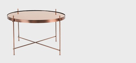 Zuiver Cupid Table in Metallic Copper Finish