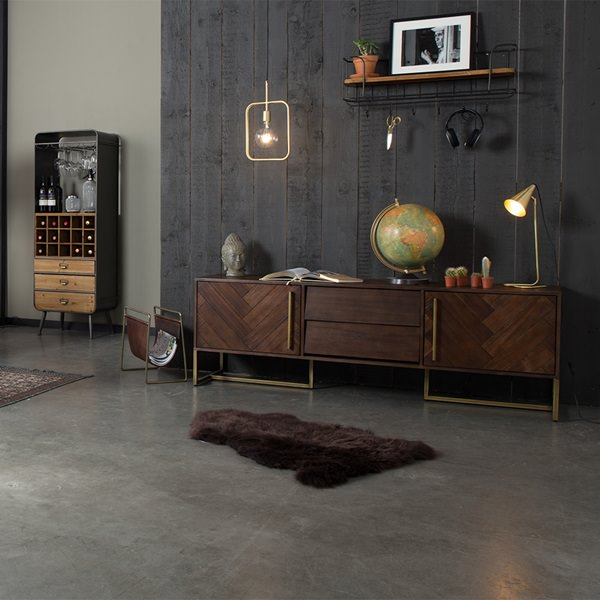 Dark-Wooden-Sideboard