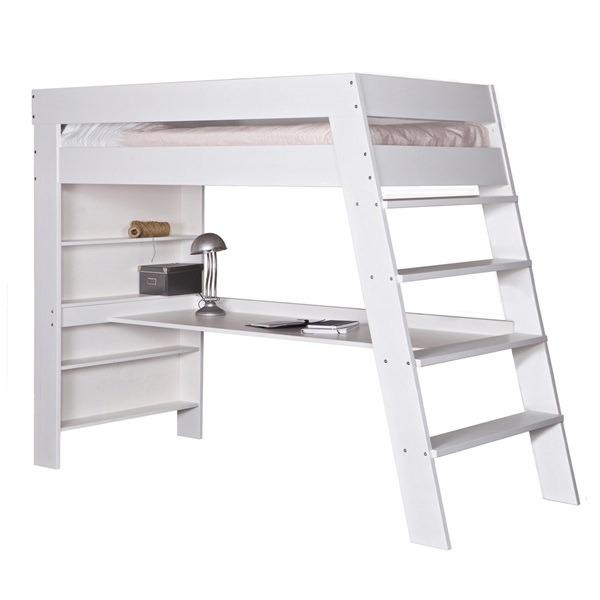 Kids-Julien-White-Loft-Bed-With-Desk