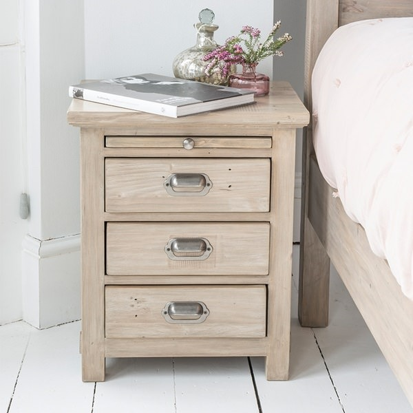 SIlver-Wood-Finish-Bedside-Table