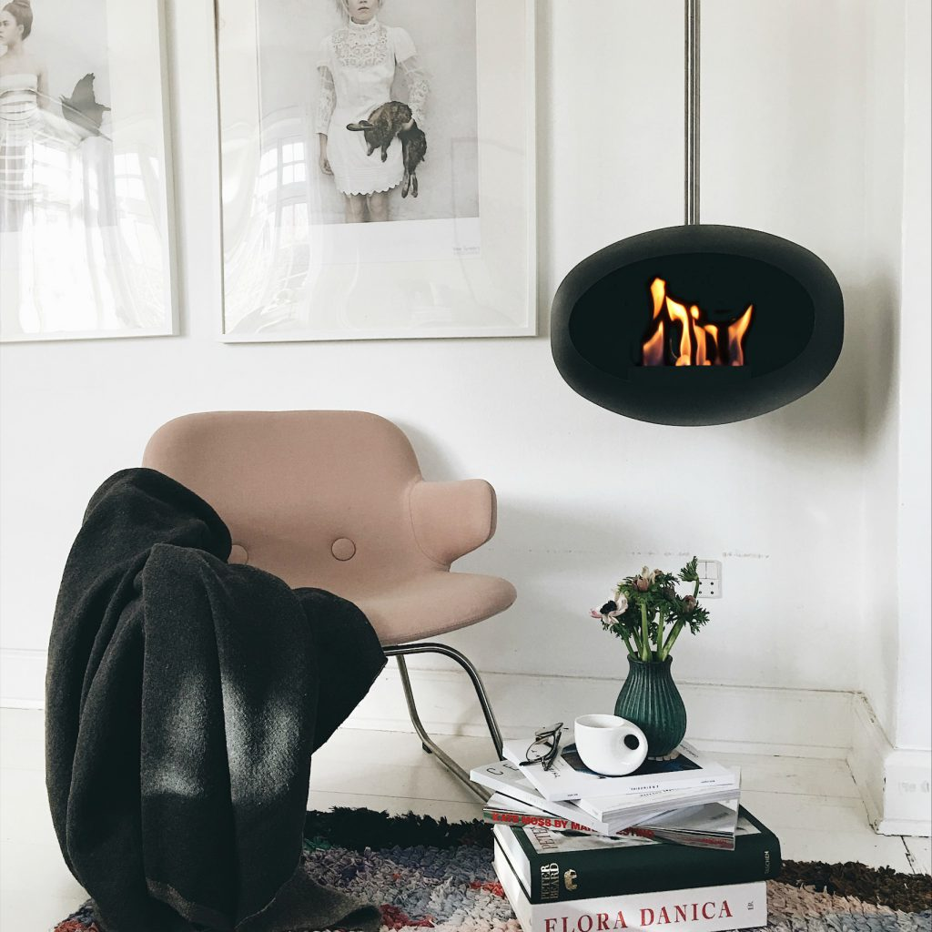 Le Feu Sky Bio Ethanol Fireplace in Black