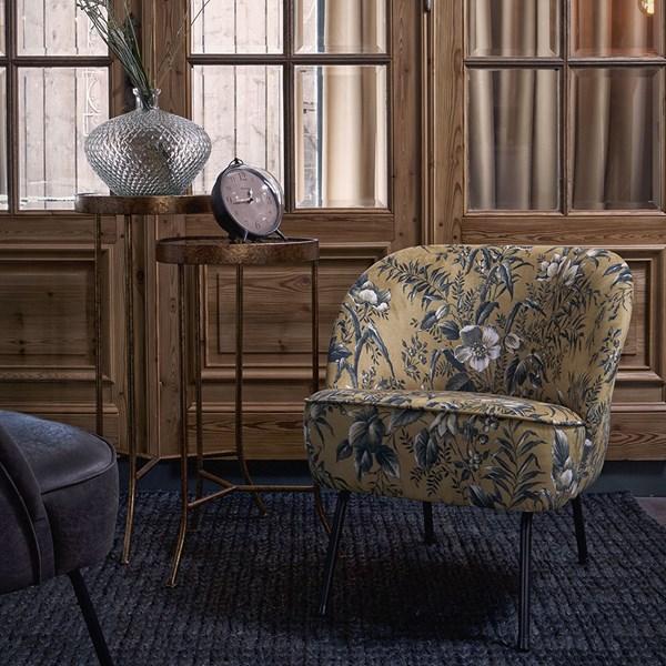 Vogue Velvet Armchair in Poppy Mustard by BePureHome