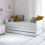 nordic white kids bed
