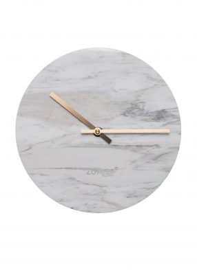 52076 Zuiver Marble Time Wall Clock in White (2)