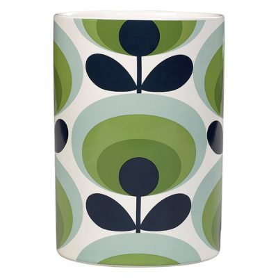 70s-Oval-Flower-Ceramic-Utensils-Jar