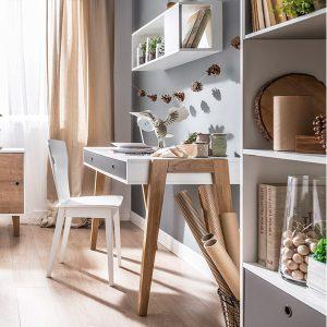 Concept-Desk-in-White-and-Graphite-with-Oak-Legs