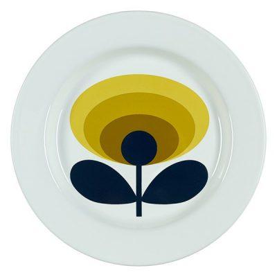 Enamel-Plate-Dandelion-Oval-Birdseye