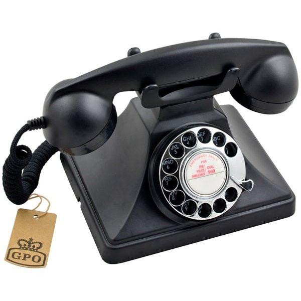 GPO-200-Rotary-Dial-Phone-Black