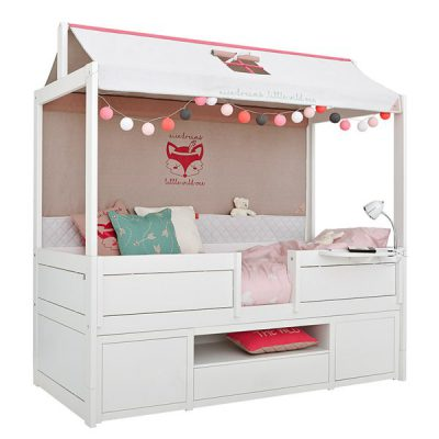 Girls-Wild-Child-Cabin-Bed-with-Fabric-Roof