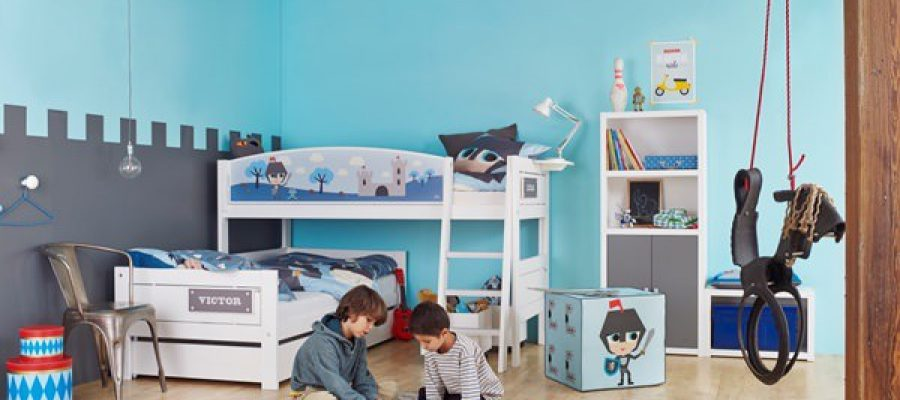 Kids-Knight-L-Shaped-Bunk-Bed-L