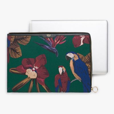 Ladies-Padded-Parrot-Print-Laptop-Sleeve