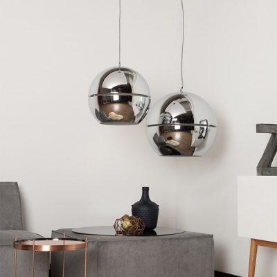 Large-Retro-Chrome-Round-Ceiling-Light