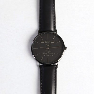 Lisa-Angel-Personalised-We-Love-You-Dad-Watch-Black-Face-Black-Leather-Strap