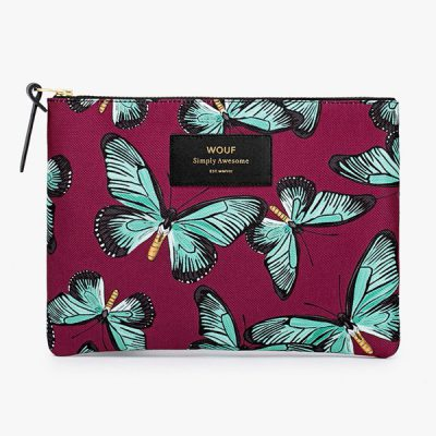 Makeup-Bag-with-Burgundy-and-Blue-Butterfly-Pattern