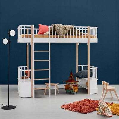 Oliver-Furniture-White-and-Oak-Loft-Bed