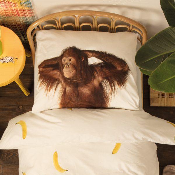 Orangutan-Monkey-and-Banana-Bedding-Set
