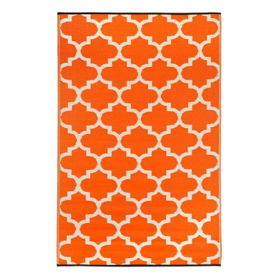 Tangier-Orange-and-White-Outdoor-Rug