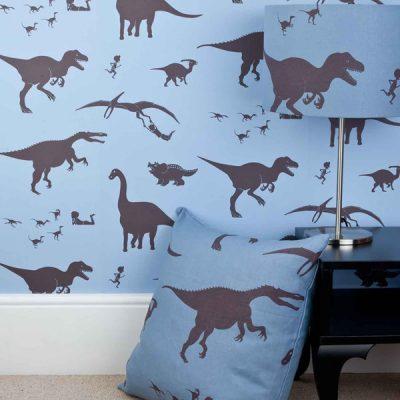 blue-wallpaper-dinosaur-kids-designer