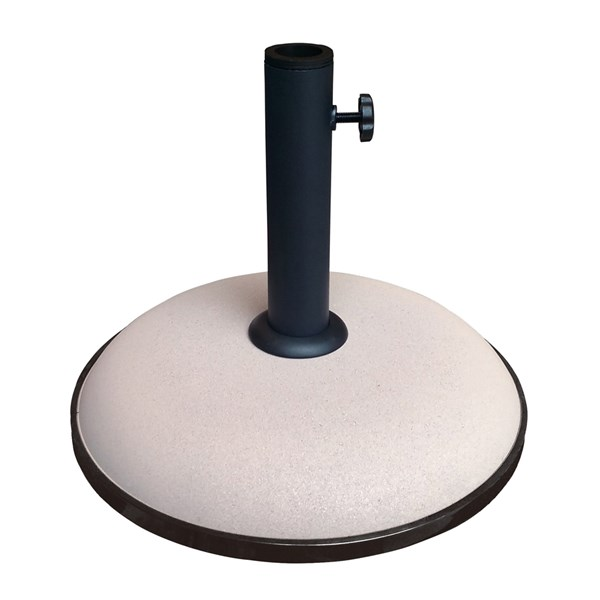 15kg Concrete Garden Parasol Umbrella Base in Taupe