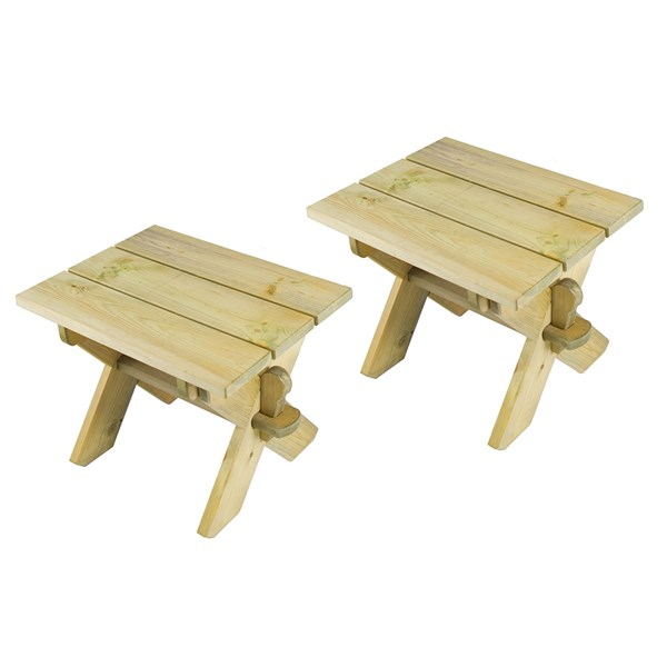 Alexander Rose Pair of Pine Stools