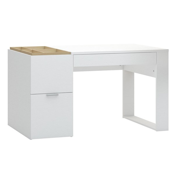 Vox 4 You Desk in White & Oak Effect