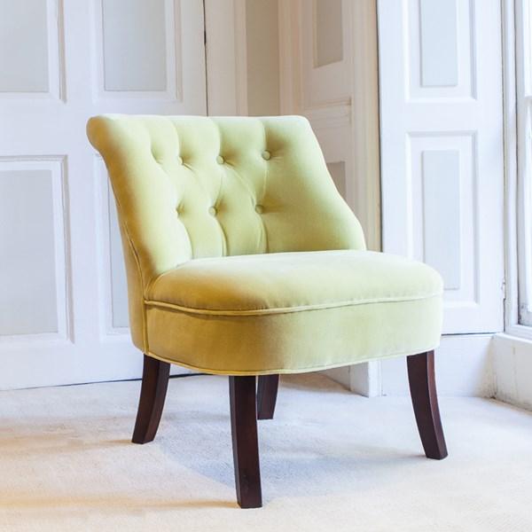Velvet Tub Chair in Acacia