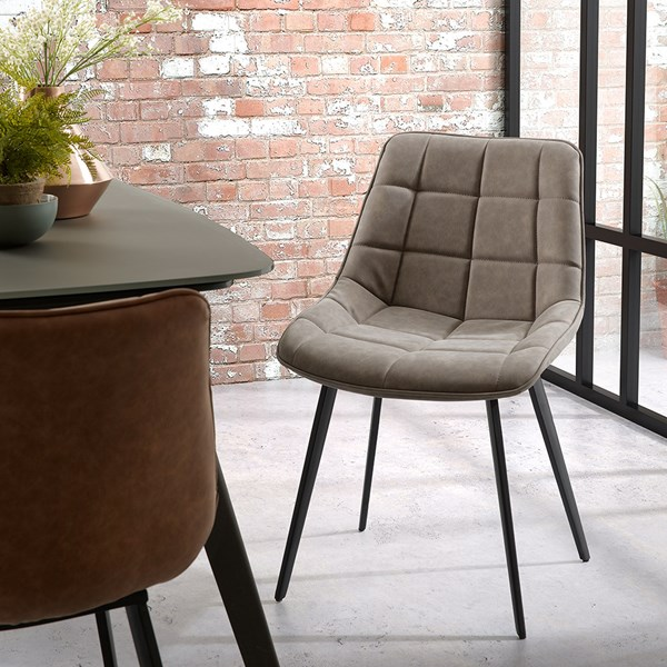 Luxury Leather Look Upholstered Chair