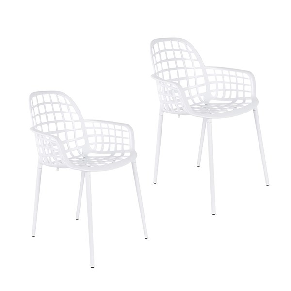 Zuiver Pair of Albert Kuip Garden Armchair in White