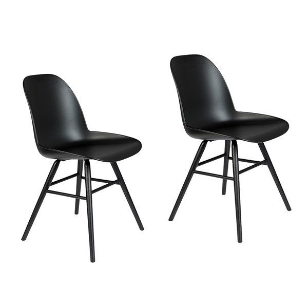 Zuiver Pair of All Black Albert Kuip Chairs