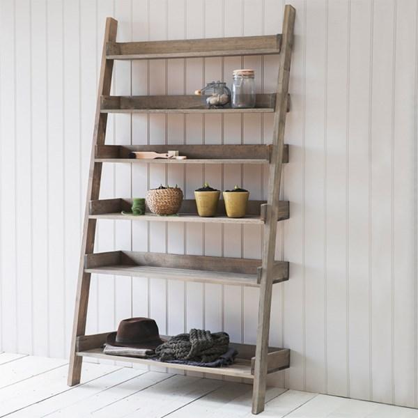 Aldsworth Wide Wooden Ladder Shelf