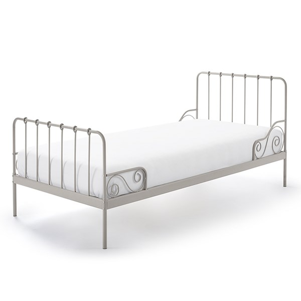 Light Grey Vintage Style Kids Bed