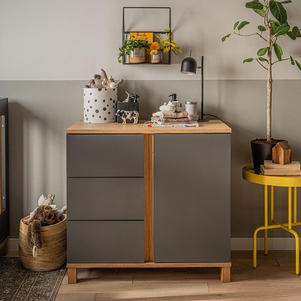 Stylish Dresser from Vox in Graphite and Oak