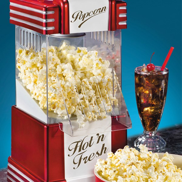 Smart Retro Hot Air Popcorn Maker
