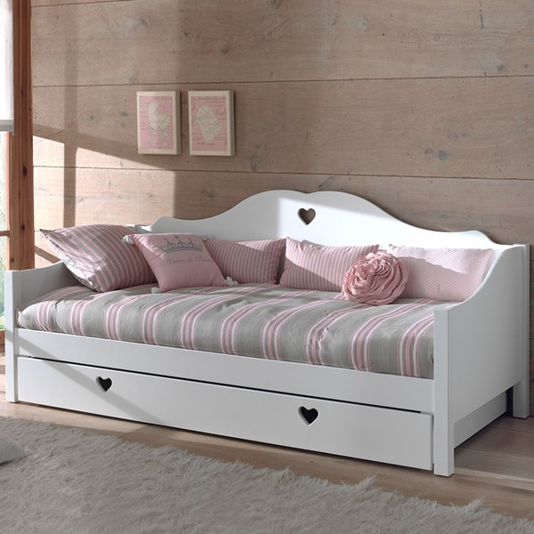 Amori Kids White Day Bed