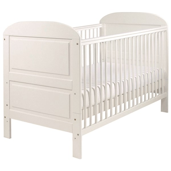 East Coast Angelina Baby and Toddler Cot Bed in White