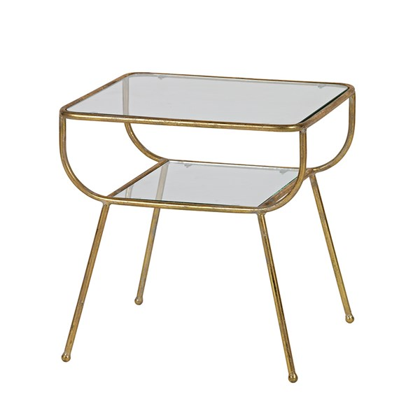 Amazing Side Table in Antique Brass