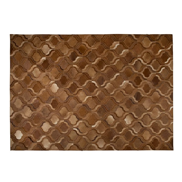 Bawang Cow Hide Rug in Light Brown