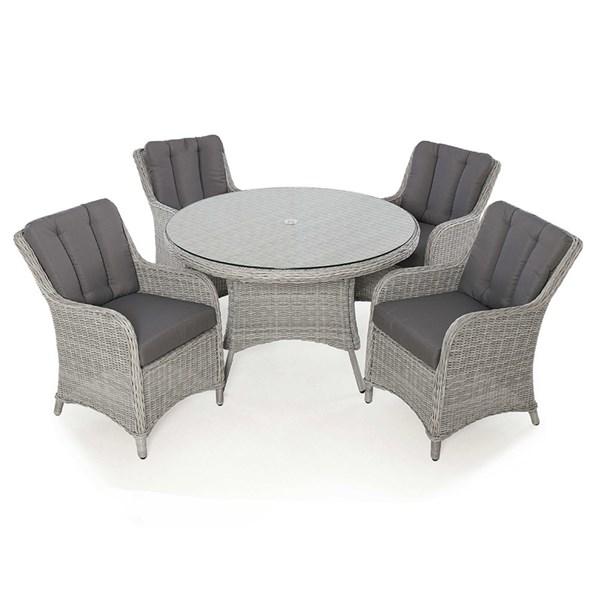 Maze Rattan Ascot 4 Seat Round Dining Set
