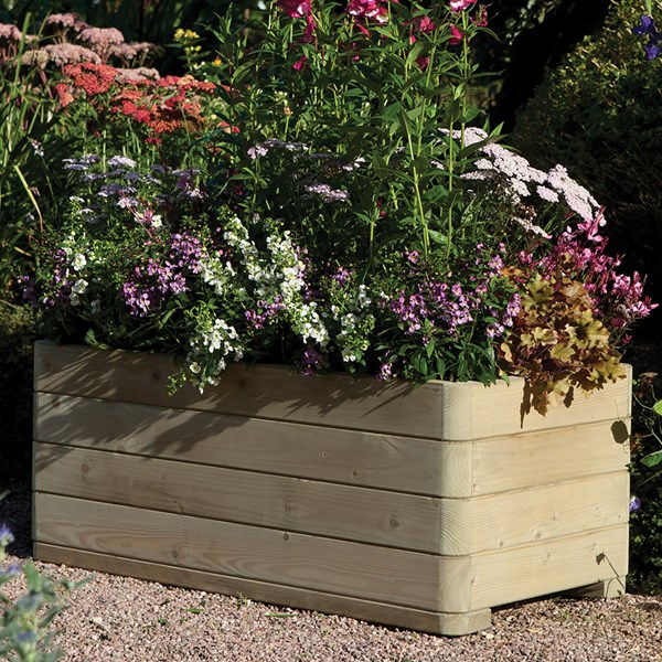 Contemporary Garden Planter with Curved Edges