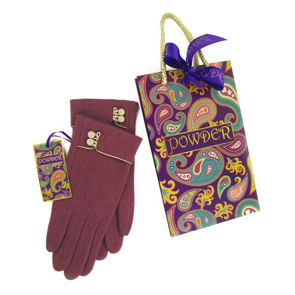 Pure Wool Gloves in Pink & Cream at Cuckooland.com