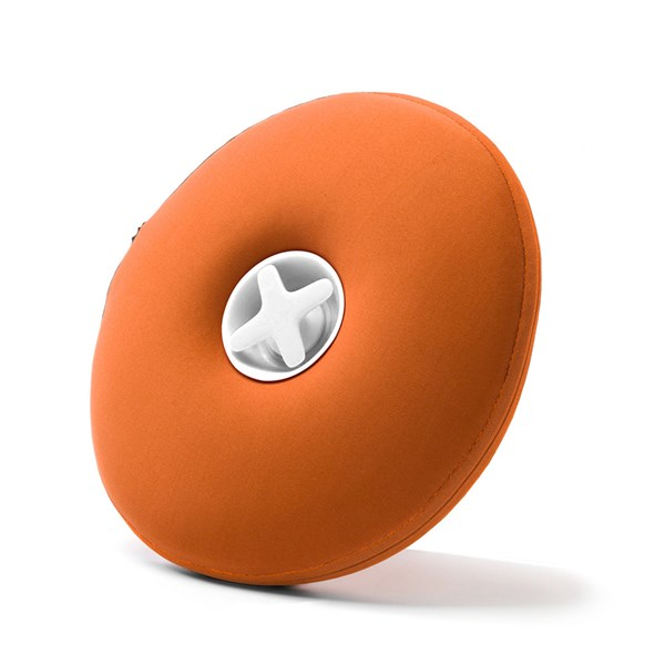 Round Pill Hot Water Bottle in Orange