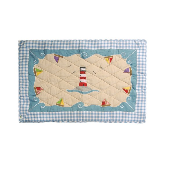 BOAT HOUSE Floor Quilt Small