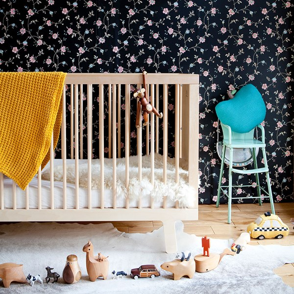 Oeuf Sparrow Cot Bed in Birch