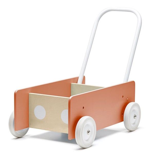 Children's Wooden Baby Walker in Dark Apricot