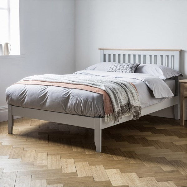 Banbury Low End Bed in Grey by Frank Hudson