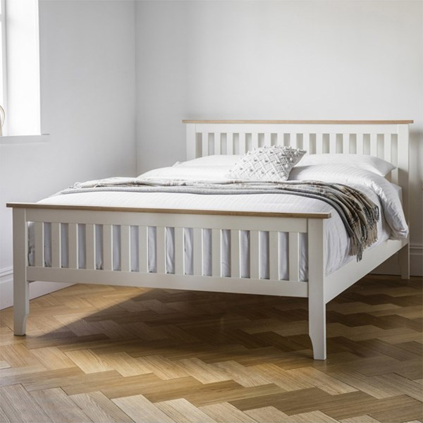 Banbury High End Bed in White by Frank Hudson