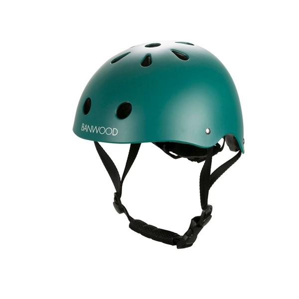 Banwood Kids Cycle Helmet in Dark Green