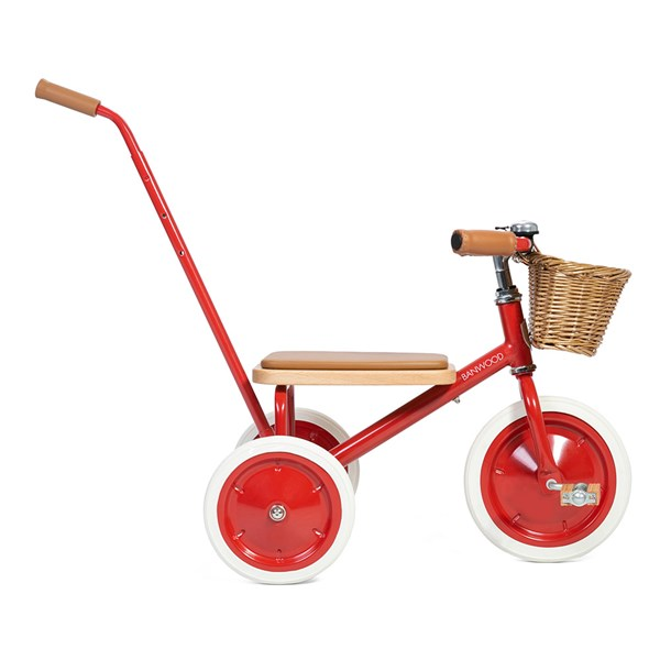 Trike in Red with Vegan Leather Handlebar Grips