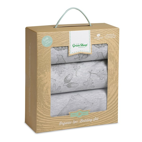 Crib 3 Piece Organic Cotton Bedding Set
