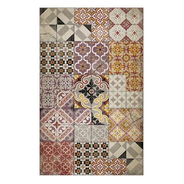 Beija Flor Wabi Sabi Eclectic Vinyl Floor Mat